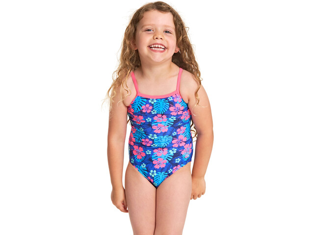 aadd286defd8a Zoggs Kona Yaroomba Floral Swimsuit Children pink/blue at Bikester.co.uk